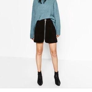 Black suede skirt Zara